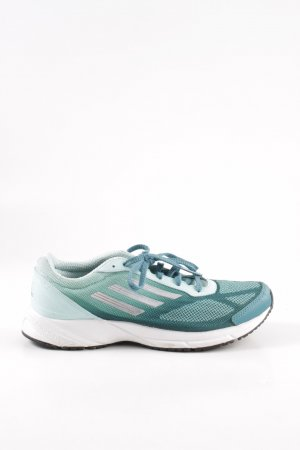 Adidas Schnürsneaker türkis grafisches Muster Casual-Look