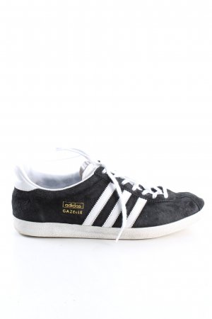 Adidas Sznurowane trampki czarny W stylu casual