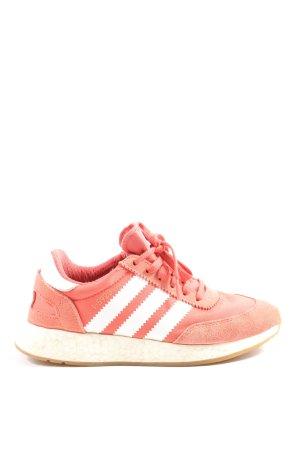 Adidas Schnürsneaker pink-weiß Streifenmuster Casual-Look