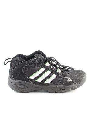 Adidas Schnürsneaker schwarz Streifenmuster sportlicher Stil