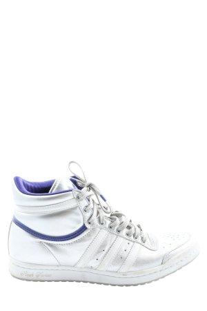 Adidas Schnürsneaker silberfarben-blau Casual-Look