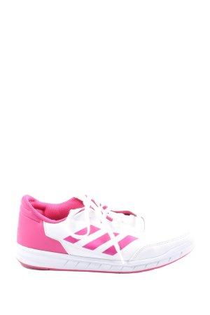 Adidas Schnürsneaker pink-weiß Casual-Look