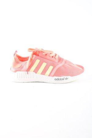 Adidas Schnürsneaker pink-blassgelb Schriftzug gedruckt Casual-Look
