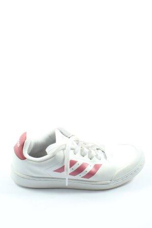 Adidas Schnürsneaker weiß-pink Casual-Look