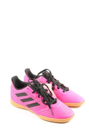 Adidas Schnürsneaker pink-schwarz Motivdruck Casual-Look