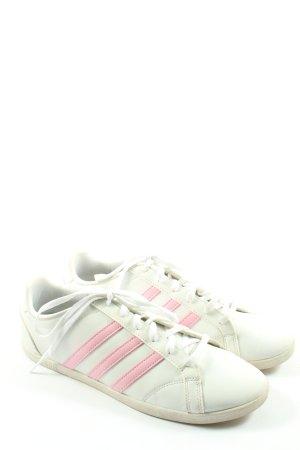 Adidas Schnürsneaker weiß-pink Motivdruck Casual-Look