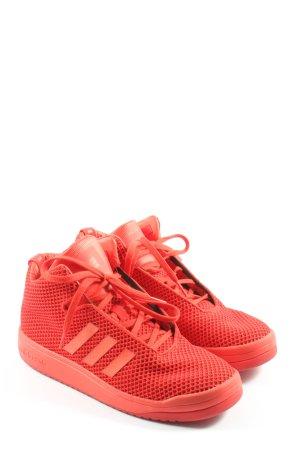 Adidas Schnürsneaker rot Motivdruck Casual-Look