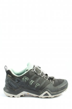 Adidas Lace-Up Sneaker black-turquoise athletic style