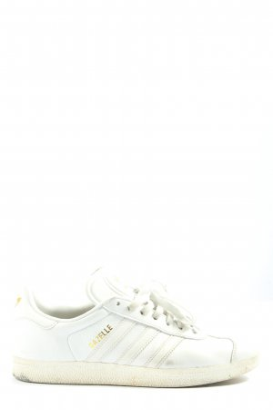 Adidas Lace-Up Sneaker white-gold-colored printed lettering casual look