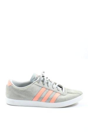 Adidas Schnürsneaker hellgrau-hellorange Casual-Look