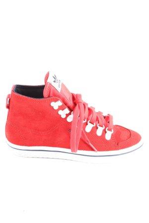 Adidas Schnürsneaker rot-weiß Casual-Look