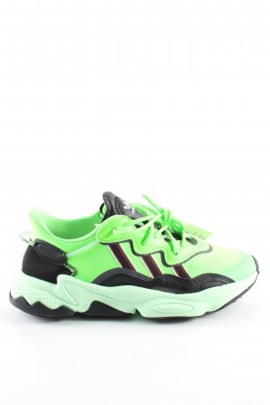 Adidas Schnürsneaker grün-schwarz Casual-Look
