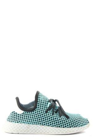 Adidas Zapatilla brogue negro-turquesa estampado a cuadros look casual