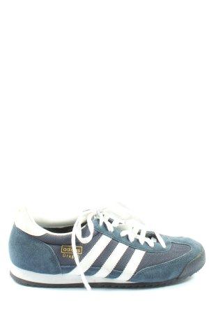 Adidas Schnürsneaker blau-weiß sportlicher Stil