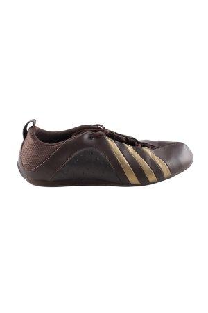 Adidas Schnürsneaker braun Streifenmuster Casual-Look