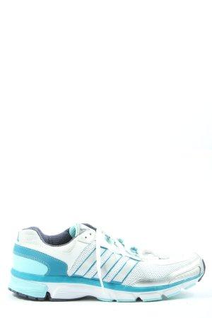 Adidas Schnürsneaker weiß-blau Streifenmuster Casual-Look
