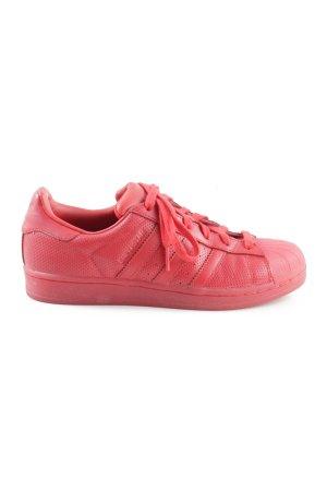 Adidas Schnürsneaker rot Steppmuster sportlicher Stil