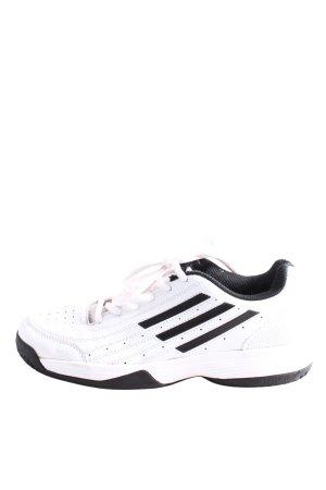 Adidas Sznurowane trampki biały-czarny Wzór w kropki W stylu casual
