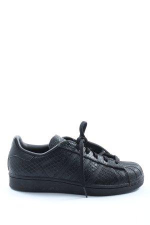 Adidas Schnürsneaker blau-schwarz Casual-Look