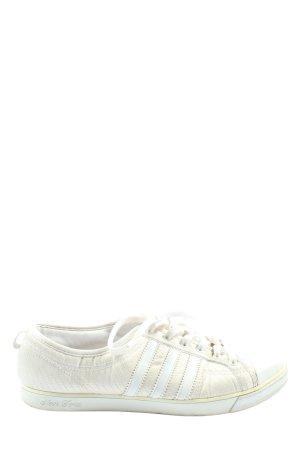 Adidas Schnürsneaker creme-wollweiß Streifenmuster Casual-Look