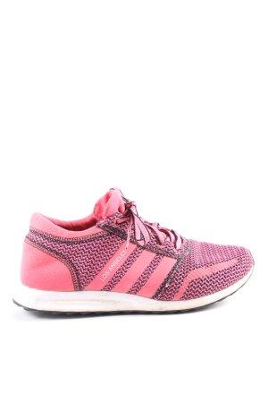 Adidas Schnürsneaker pink-schwarz meliert Casual-Look