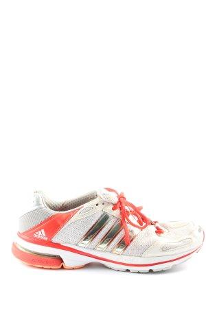 Adidas Basket à lacet gris clair-rouge style décontracté