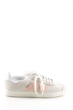 Adidas Schnürsneaker hellgrau-pink Streifenmuster Casual-Look