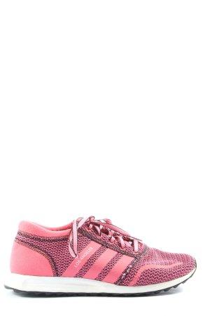 Adidas Schnürsneaker pink-schwarz Allover-Druck Casual-Look