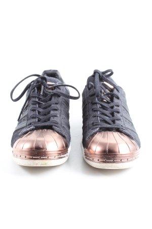 Adidas Schnürsneaker schwarz-bronzefarben Casual-Look