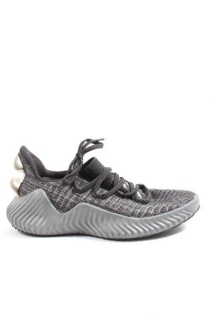 Adidas Sznurowane trampki czarny-biały Melanżowy W stylu casual