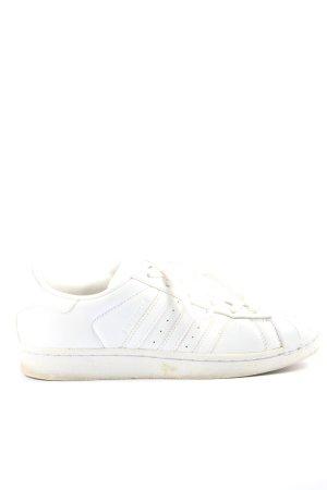 Adidas Sznurowane trampki biały W stylu casual
