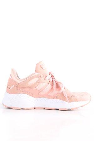 Adidas Basket à lacet blanc-rose style décontracté