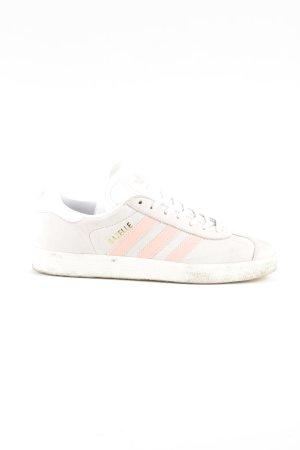 Adidas Schnürsneaker wollweiß-pink Schriftzug gedruckt Casual-Look