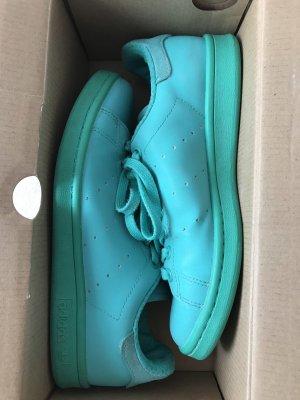 adidas stan smith Basket à lacet turquoise-vert menthe