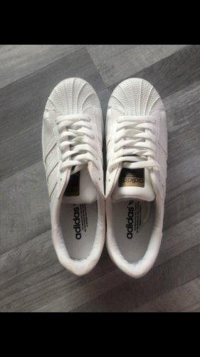 Adidas Zapatilla brogue blanco-color oro