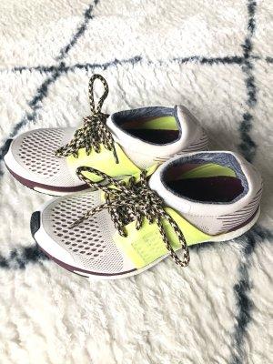 Adidas by Stella McCartney Basket à lacet blanc-jaune fluo