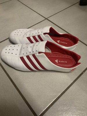 Adidas Instappers wit-rood