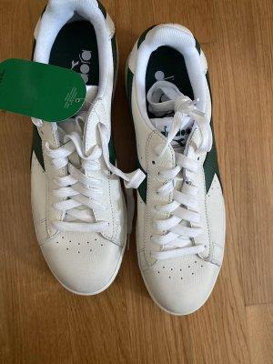 Adidas Sznurowane trampki biały-leśna zieleń