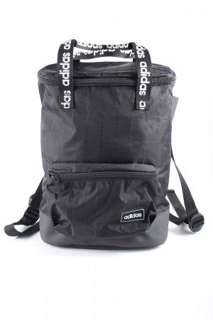 Adidas Schulrucksack schwarz-weiß Schriftzug gedruckt Casual-Look