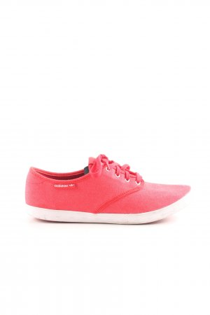 Adidas Scarpa da barca rosso-bianco stile casual