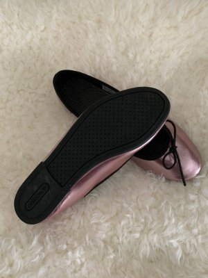 Adidas NEO Patent Leather Ballerinas rose-gold-coloured