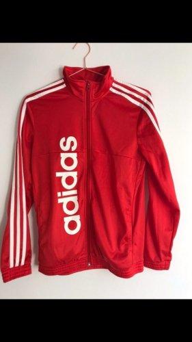 Adidas Chaqueta deportiva negro-rojo