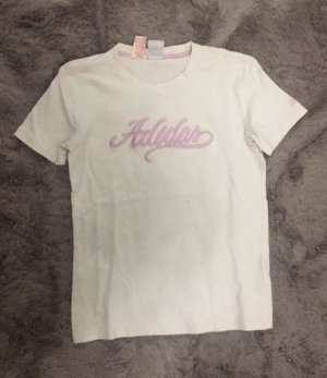Adidas T-shirt de sport blanc-mauve