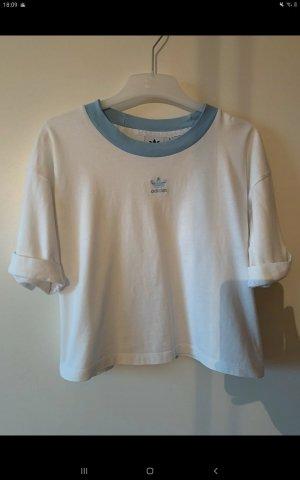 Adidas T-shirt bianco-blu pallido