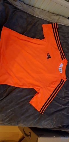Adidas Originals T-shirt de sport noir-orange fluo