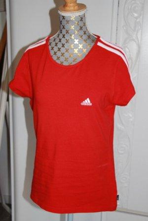 Adidas Camisa deportiva rojo-blanco Algodón
