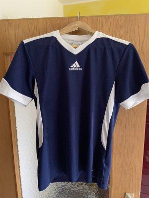 Adidas Top Polo blanc-bleu
