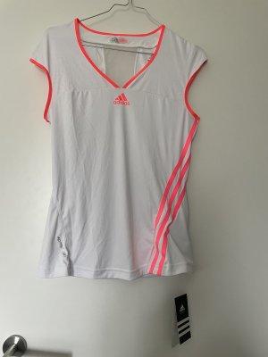 Adidas Top sportowy biały-różowy neonowy