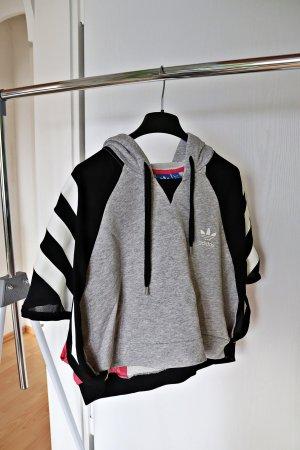 Adidas Sportshirt lichtgrijs-lichtrood Katoen