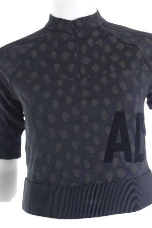 Adidas Shirt schwarz-dunkelbraun Animalmuster sportlicher Stil